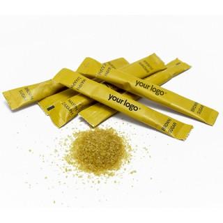 Καστανή ζάχαρη σε Στικ 4g   Με εκτύπωση του λογοτύπου σας   1000 τμχ/κιβ